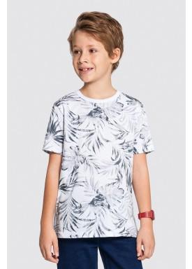 camiseta infantil masculina folhas cinza alakazoo 46894 1