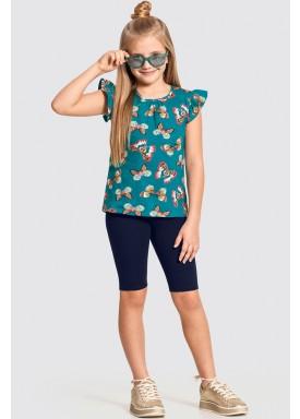 conjunto infantil feminino borboletas verde alakazoo 11314 1