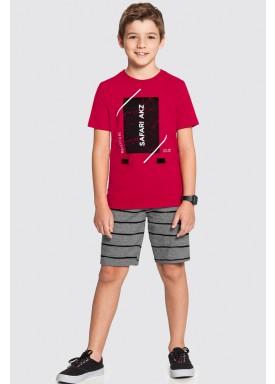 conjunto infantil masculino safari vermelho alakazoo 46868 1