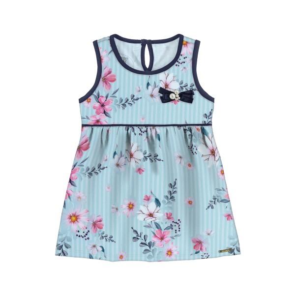 vestido bebe feminino flores verde alakazoo 47185