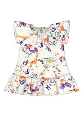 vestido bebe feminino floresta offwhite alakazoo 47188