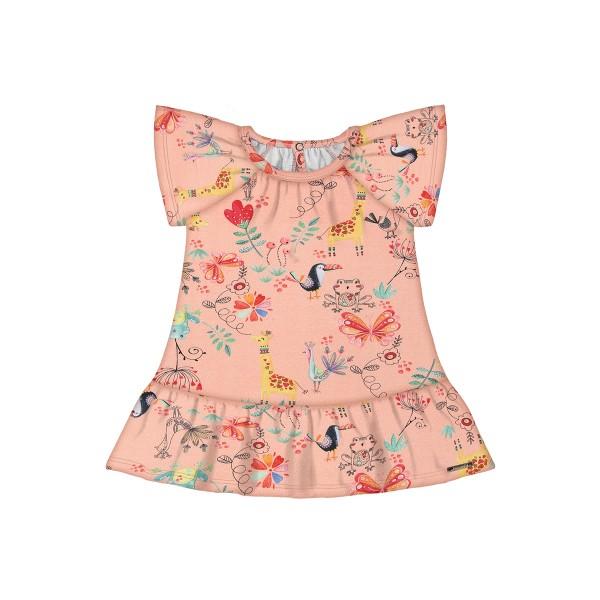 vestido bebe feminino floresta salmao alakazoo 47188