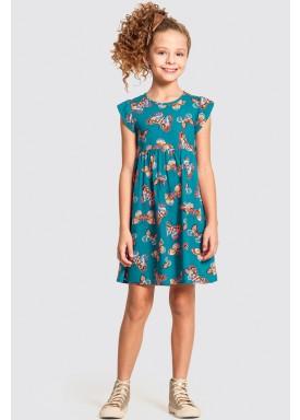 vestido infantil feminino borboletas verde alakazoo 11214 1