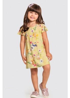 vestido infantil feminino nature amarelo alakazoo 47207 1