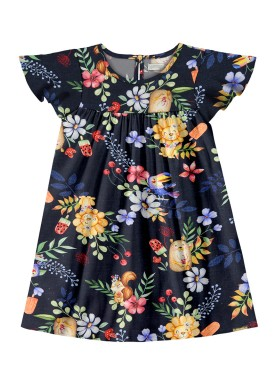 vestido infantil feminino nature marinho alakazoo 47207