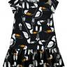 vestido infantil feminino tucanos preto alakazoo 11215 2