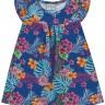 vestido bebe feminino flores azul forfun 3100