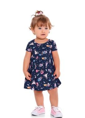 vestido bebe feminino unicornios azul forfun 3102 1