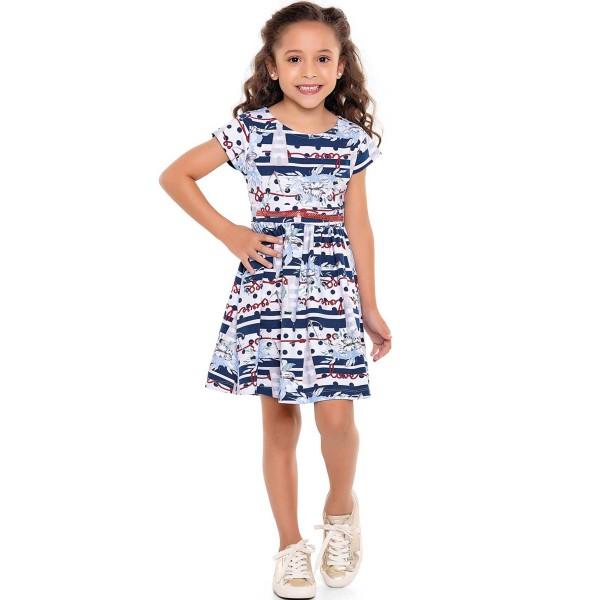 vestido infantil feminino love marinho fakini 3044 1