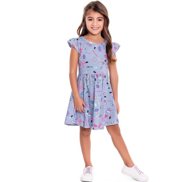 vestido infantil feminino makeup azul forfun 3120 1