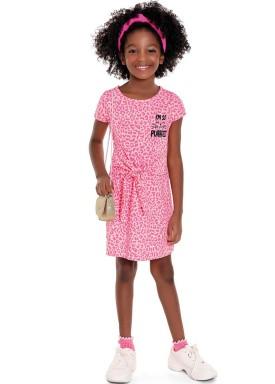 vestido infantil feminino purrfect rosa fakini 3098 1