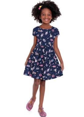 vestido infantil feminino unicorns marinho forfun 3120 1