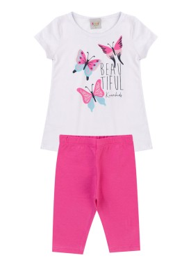 conjunto infantil feminino beautiful branco kiiwi kids 1