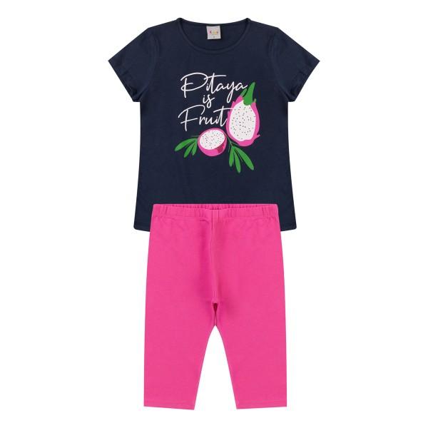 conjunto infantil feminino pitaya marinho kiiwi kids 1