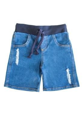 bermuda jeans infantil masculina azul lbm j008 puidos 1