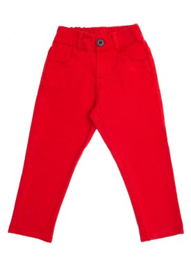 calca sarja infantil menino vermelho lbm s003 1