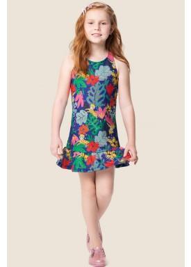 vestido infantil feminino selva azul marlan 64564 1