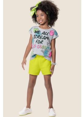conjunto infantil feminino ice cream mescla marlan 64572 1