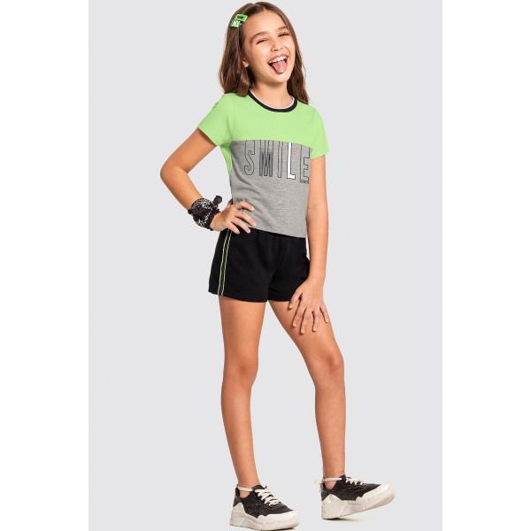 conjunto infantil feminino smile verde alakazoo 47296 1