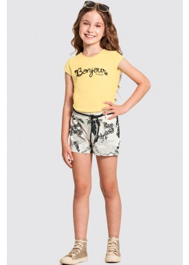 conjunto infantil feminino bonjour amarelo alakazoo 47295 1