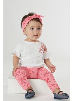 conjunto bebe feminino flores branco upbaby 42869 1