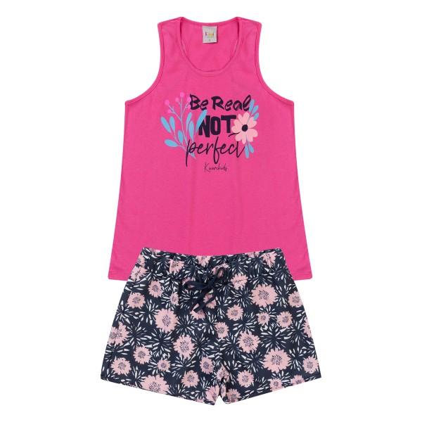 conjunto infantil feminino perfect pink kiiwi kids 1