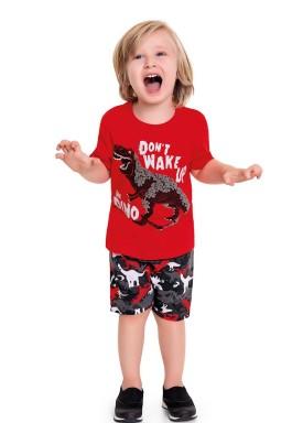 conjunto infantil masculino dino vermelho fakini 3240 1