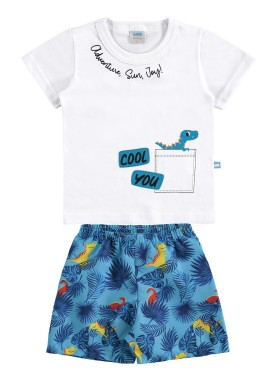conjunto bebe masculino cool you branco 60418