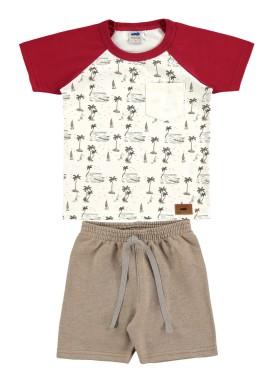 conjunto infantil masculino summer marfim 62503