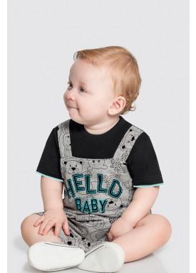 macaquinho bebe masculino hello baby preto 46807 1