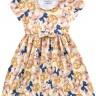 vestido infantil feminino ursinhos amarelo fakini 3015 3
