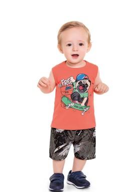 conjunto bebe masculino pug life laranja fakini forfun 3151 1