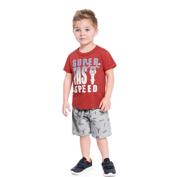 conjunto infantil masculino fast speed vermelho brandili 34255 1