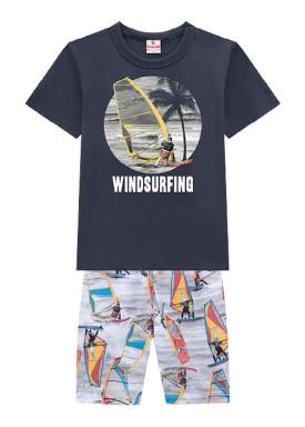 conjunto infantil masculino windsurfing cinza brandili 34280