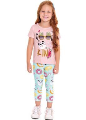 conjunto infantil feminino be kind rosa fakini 3049 1