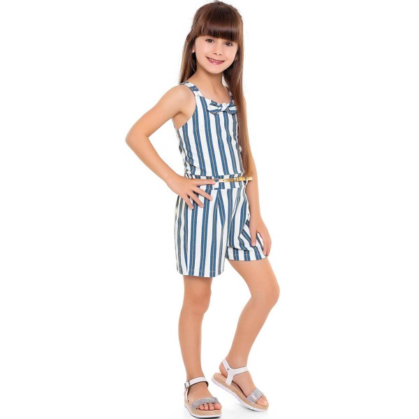 macaquinho infantil feminino listras branco fakini 3059 1