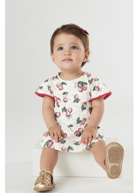 vestido body bebe feminino cherries natural upbaby 42293 1