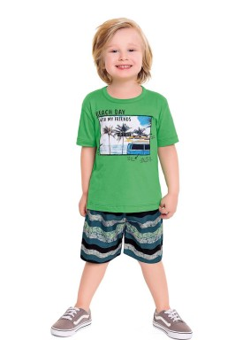 conjunto infantil masculino beach day verde fakini forfun 3159 1