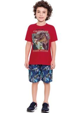 conjunto infantil masculino tyrannosaur vermelho fakini forfun 3166 1