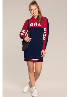 vestido moletom juvenil feminino grl marinho lunender hits 67592 1