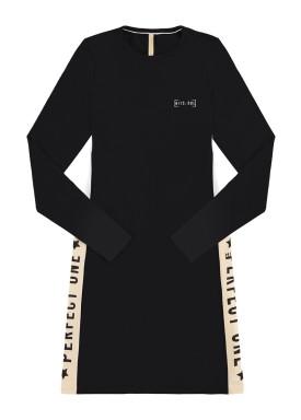 vestido manga longa juvenil feminino perfect one preto lunender hits 67594