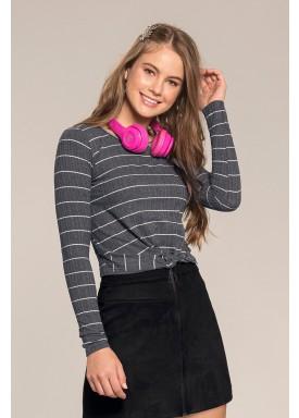 blusa manga longa juvenil feminina listras mescla lunender hits 67569 1