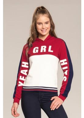 blusao moletom juvenil feminino yeah vermelho lunender hits 67581 1