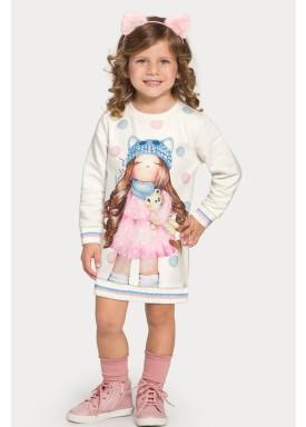 vestido moletom infantil feminino lovely offwhite alakazoo 67466 1