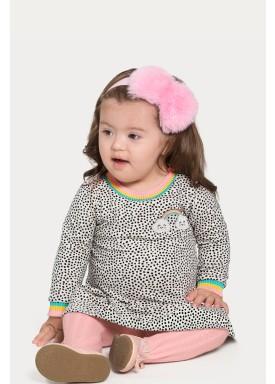 vestido bebe infantil feminino rainbow mescla alakazoo 67450 1