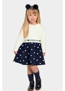 conjunto vestido blusao infantil feminino love offwhite alakazoo 67473 1