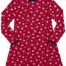 vestido manga longa infantil juvenil feminino flores vermelho alakazoo 67534 3