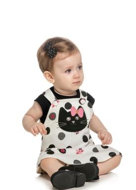 conjunto bebe feminino gatinho preto elian 211063 1