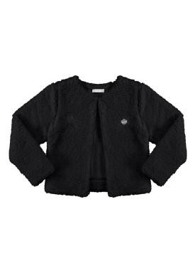 casaco pelo infantil juvenil feminino preto alakazoo 67553