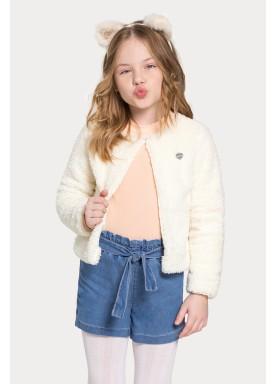 casaco pelo infantil juvenil feminino offwhite alakazoo 67553 1